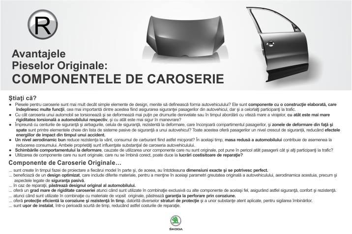 Avantajele Pieselor Originale: COMPONENTELE DE CAROSERIE